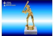 "Baseballfiguren in goldglanz ""Strike"""