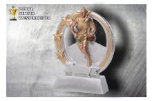 Basketball Figur silber-gold ST39282