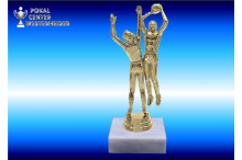 Basketballfiguren in goldglanz