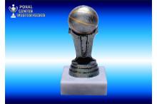 Basketballfiguren in silberantik 34068