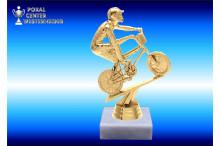 BMX-Rad Figuren-Trophäen gold