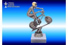 BMX-Rad Figuren-Trophäen edelsilber-look
