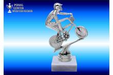 BMX-Rad Figuren-Trophäen silberglanz-Effekt