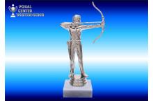 Bogenschützen-Figuren in silberglanz