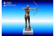 Bogenschützen-Figuren in silberantik