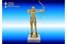 Bogenschützin-Figuren in goldglanz