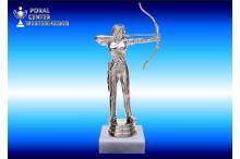Bogenschützin-Figuren in silberglanz