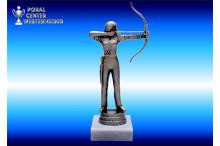 Bogenschützin-Figuren in silberantik