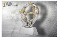 Bogenschiessen Herren Figur silber-gold ST39284