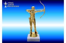Bogenschützen-Figur in gold Pokale Bogenschiessen