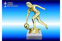 Bowlingfiguren Damen in gold
