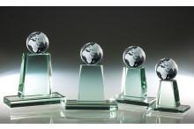 Briefbeschwerer Glas Weltkugel inkl. Gravur ST67126-29