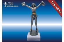 Cheerleader Trophäen-Figur silberantik