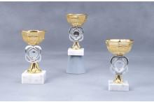 Mini Cup Pokale gold-silber 7010