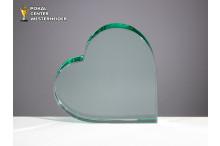 Dickwandiges Glasherz 18mm Stärke