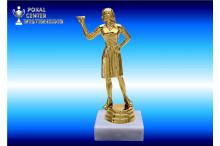 Dart Trophäen Damen gold 34114