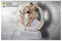 Eishockey Pokal Trophäen ST39288 silber-gold-schwarz