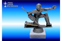 Eishockey Figuren Torwart silber-antik