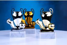 Fußballfiguren Champion Cup Ball mit Schuh