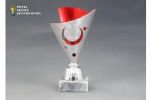 Mini-Cup Fussball Trophäen BP250.11 rot-silber