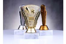 Fußballfiguren gold-silber-bronze O-174391