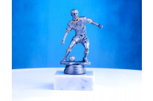 Fußballfiguren silberantik ST-34170