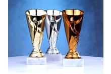 Fußballpokale Bambini Power in gold-silber-bronze
