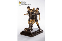 Fußball-Figur Bronze-Antik 39319