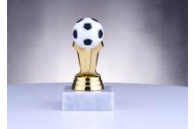 Fußballtrophäen in gold-weiss-schwarz ST38033
