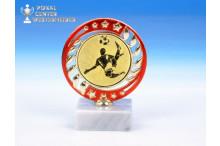 günstige Fussball-Trophäen O-163411 rot-gold