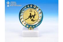 günstige Fussball-Trophäen O-163413 blau-gold