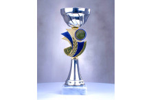 sehr günstige Cup Pokale in silber-blau