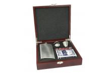 Flachmann-Set in einer exklusiven Geschenkbox mit Gravur