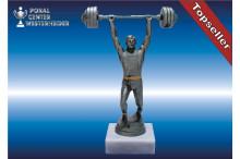 Gewichtheberfiguren in silberantik