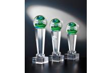 Noblesseglas-Trophäen ST41323-25 auf Kristallsäulen Fantasie