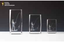 Glastrophäen für Angler mit Lasergravur