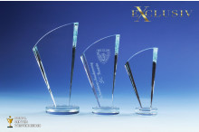 Glastrophäen Exklusiv Bogen-clear AR-N512
