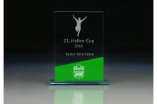 Glastrophäen Sonderanfertigung ''Emerald Tower'' ST35771-V green