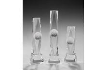 Golf Glastower mit Golfball Relief Kristall