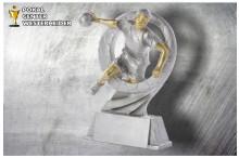 Handball Herren Figur silber-gold ST39323
