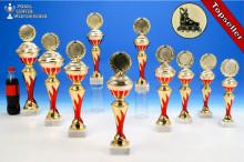 Inlineskating-Pokalserie in 10 Größen mit Flammendekor
