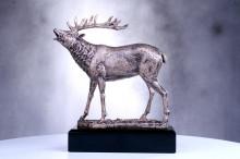 Hirsch Jagdtrophäen im Bronzelook mit Gravur