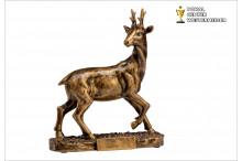 Rehbock Jagdtrophäen im Bronzelook mit Gravur