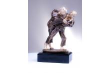 Judofiguren im bronzelook TRX221/BR
