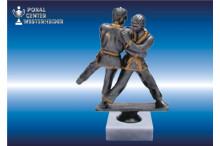 Judo Figuren silber-antik