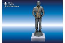 Judo Figuren männlich silber-antik