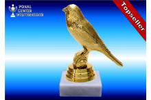 Kanarienvogelfiguren in gold