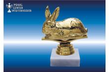 Kaninchenzuchtfiguren in goldglanz