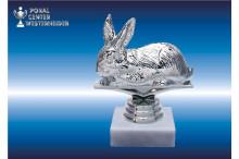 Kaninchenzuchtfiguren in silberglanz