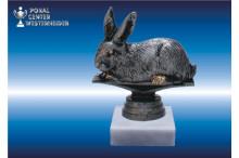 Kaninchenzuchtfiguren in silberantik
